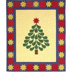 Starred & Feathered Christmas Tree quilt pattern by  Kay Gentry of Noble Needle Quilting.  Accuquilt.