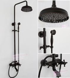 Oil Rubbed Bronze Bathroom Rain Shower Faucet Set Shower Kit B18F-A