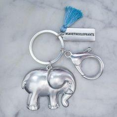 Silver Tassel Keychain Elephant Keychain, Elephant Logo, Elephant Stuff, Chloe, Save The Elephants, Tassel Keychain, Ewok, Tassels, Jewelry Accessories