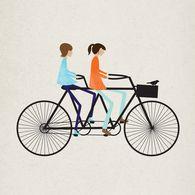 tandem bike. Illustration by The Visual Republic