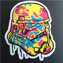 8 star wars waterpoof UV proof car fuel cap creative stickers school notebook laptop