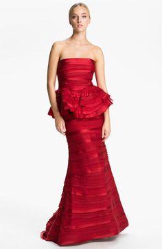 Alice + Olivia 'Jasmine' Ruffle Tiered Peplum Gown   Nordstrom