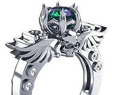 Winged Skull Engagement Ring | Buy This Bling!