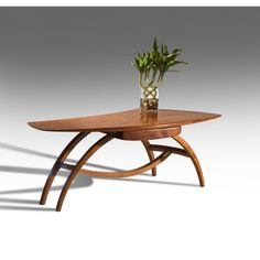 Antiques Dealers Association - Important Applewood & Maple Coffee Table by Wharton Esherick