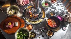 Find the best Korean restaurant NYC has to offer with this list ranging from Korean BBQ spots to new takes on classic dishes. Best Korean Bbq Nyc, Korean Barbeque, Best Korean Food, Korean Grill, Best Bbq, Barbecue, Korean Bbq Restaurant, Restaurant New York, Meat Restaurant
