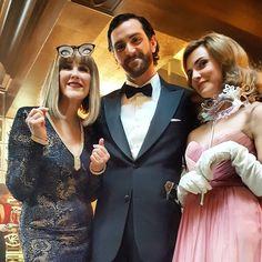 Georgina, Gustav and Jaqueline at the Masquerade Ball
