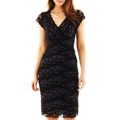 Blu Sage Shutter-Pleat Lace Dress - jcpenney