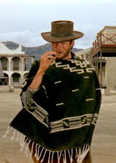 """Clint Eastwood in """"A Fistful of Dollars"""" directed by Sergio Leone. The first of the 'Dollars' trilogy. Scott Eastwood, Actor Clint Eastwood, Peliculas Western, Eastwood Movies, Tv Westerns, Actrices Hollywood, Western Movies, No Name, Movie Characters"""
