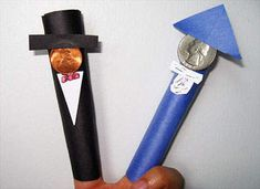 Lincoln and Washington finger puppets