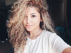 Love the curls and the hair color!