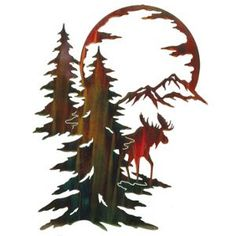 Moon River Moose Wall Hanging
