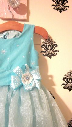 Ice Princess Flower girl dress for the by lillollipopsdesigns, $89.99