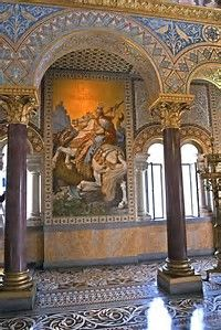 Neuschwanstein Castle - Exquisitely detailed interior of the castle Beautiful Castles, Beautiful Buildings, Beautiful Places, Palaces, Palace Interior, Legends And Myths, Neuschwanstein Castle, Seen, Bavaria Germany