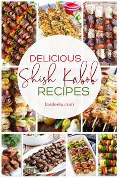 Eating food from a stick is the most fun way to eat! Try these 20 different shish kabob recipes on the grill this summer and the whole family will love it! Kabob Recipes, Grilling Recipes, Beef Recipes, Vegan Recipes, Yummy Recipes, Cooking Recipes, Shish Kabobs, Skewers, Quick Dinner Recipes