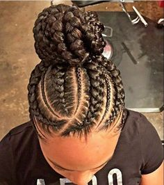 Box braids hairstyles ideas updo Click this image for more info. Black Girl Braids, Braids For Black Hair, Girls Braids, Braid Updo Black Hair, Hair Girls, Ghana Braids Hairstyles, African Hairstyles, Girl Hairstyles, Cornrows Updo