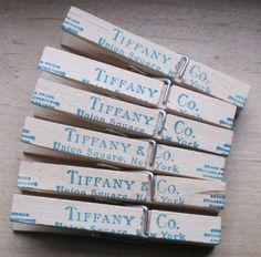 shabby chic tiffany and company pins lot of 6 by OkioBDesigns, $6.00