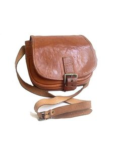 70s  natural tan leather bag by lesclodettes on Etsy, $59.00