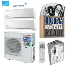Celiera CHDZ ft Dual Smart Ductless Mini Split Air Conditioner with Heater ENERGY STAR at Lowe's. What is a Ductless Mini-Split?Mini splits have two main components — an outdoor compressor/condenser and an indoor air-handling unit. A conduit,