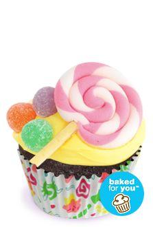 Lollipop Swirl Cupcake