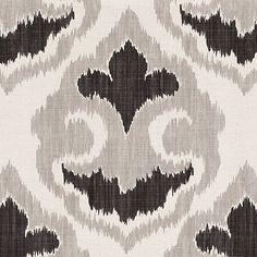 Florentina Ikat Gray Fabric by the Yard $19