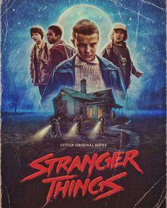 """""""Stranger Things"""" retro poster."""