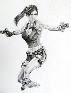 Tomb Raider Underworld, Lara Croft Drawing