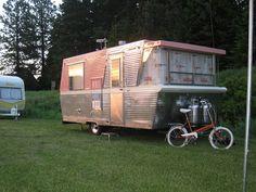 pink travel trailer camper