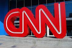 cnn red letters - outside cnn center, atlanta, ga.