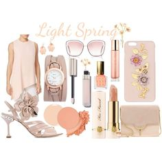 A fashion look created by Lora featuring floral embellished sandals, Women's Zana Shoulder Bag - Pale Peach Purses, Poppy sunglasses, Hi-tech Accessories. Browse and shop related looks. #fashion #lookbook