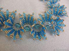 Колье, бусы ручной работы. Ожерелье 'Волна'. Вилия Калабина (Viliya Vita). Ярмарка Мастеров. Волны, мононить Bead Jewellery, Seed Bead Jewelry, Seed Beads, Beaded Jewelry, Jewelry Crafts, Jewelry Art, Beaded Earrings, Beaded Bracelets, African Beads