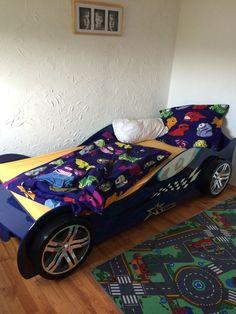 Vipack Silverstone Bett Blau (Autobett)