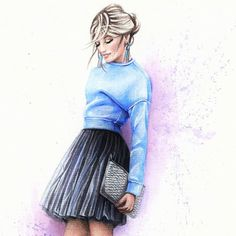 You either know fashion or you don't ( Anna Wintour). Do you agree with this?  #fashionillustration #kaznakovaolga