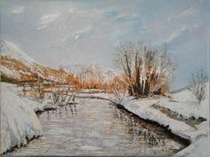 Fabio Orsolini Paesaggio con neve e fiume
