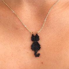 😉Kara kedi😉 – Willkommen in meiner Welt Seed Bead Necklace, Seed Bead Jewelry, Bead Earrings, Diy Jewelry, Handmade Jewelry, Beaded Necklace, Jewelry Making, Beaded Jewelry Patterns, Bracelet Patterns