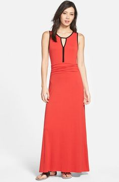 Vince Camuto Contrast Trim Keyhole Maxi Dress (Regular & Petite) available at #Nordstrom