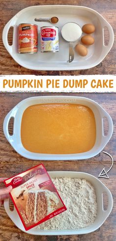 Pumpkin Recipes, Fall Recipes, Sweet Recipes, Holiday Recipes, Best Pumpkin Pie, Pumpkin Puree, Pumpkin Spice, Dump Cake Recipes, Dessert Recipes