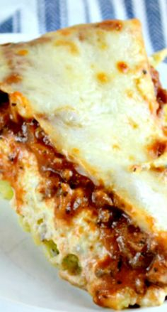 """Spaghetti Pie or What I Like to Call,""""Out Of This World, Delicious Parmesan Garlic Angel Hair Pasta with Homemade Meat Sauce and Lasagna Topping!"""