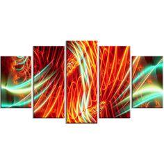 Abstract Neon Lights Canvas Wall Art Print