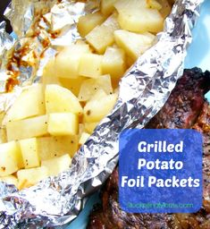 Grilled Potato Foil Packets are perfect for camping.