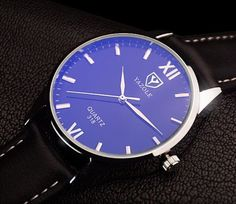 Yazole 318 Men's Quartz Fashion Watch. Daily Water-resistant. Blue-tinted Window #Yazole