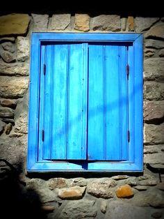 Window - Murina, Limnos island, Greece