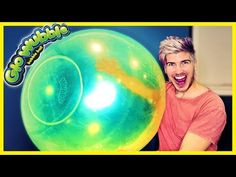 PLAYING WITH GLOW IN THE DARK WUBBLE BUBBLE! - YouTube