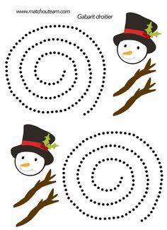 Ma Tchou team: Bonhomme de neige à découper