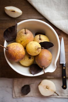 Fall Pears for Poaching | Now, Forager | Teresa Floyd Photography