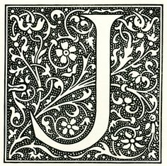 Items similar to 1897 Letter J French Larousse Dictionary Alphabet scrapbooking home decor wall art 115 years old on Etsy Fancy Letters, Letters And Numbers, Monogram Letters, Illuminated Letters, Illuminated Manuscript, Vintage Lettering, Hand Lettering, Coloring Books, Coloring Pages