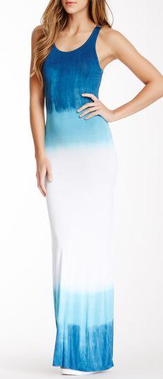 Tie Dye Print Maxi Dress