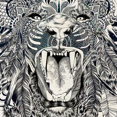 Lion | Feline Zegers.  Source: behance.net  #ART #Feline Zegers