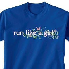 Running Tshirt Short Sleeve Run Like a Girl