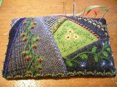 I ❤ crazy quilting . . . Allie's In Stitches- Wool Pincushion
