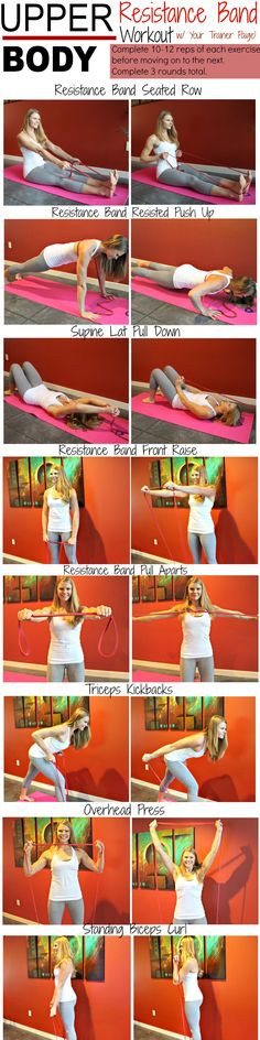 Upper Body Resistance Band Workout for Strong Arms. Pin now, check later.
